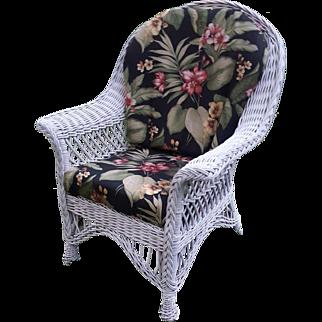 Vintage Bar Harbor Wicker Arm Chair Circa 1920's