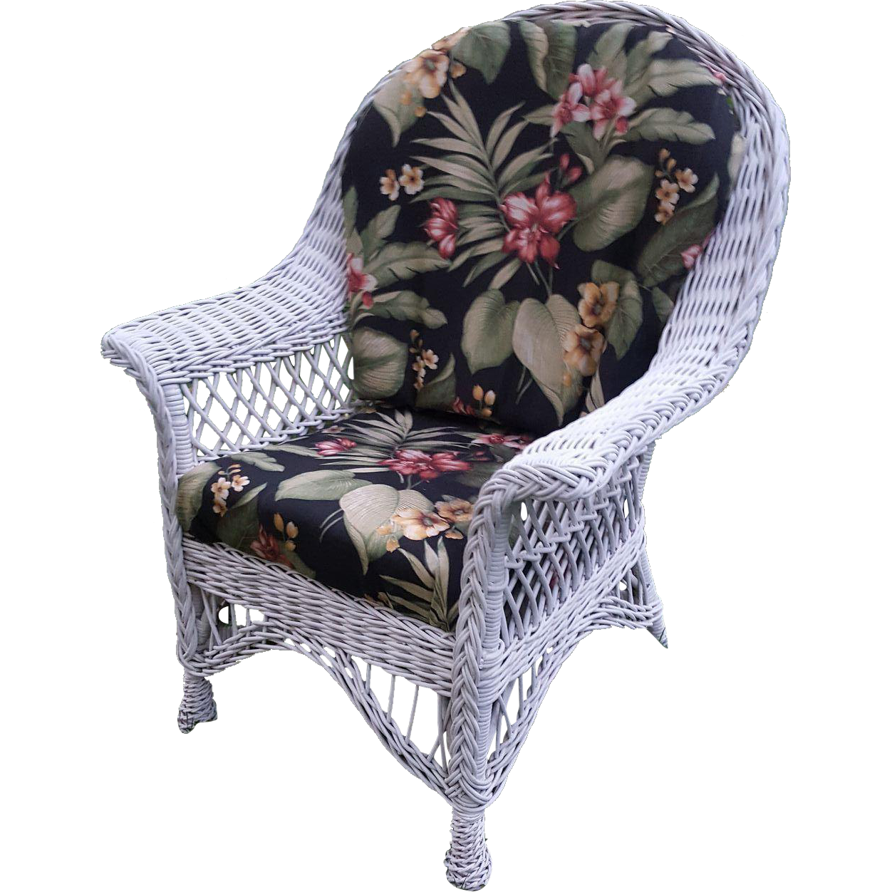 Vintage Bar Harbor Wicker Arm Chair Circa 1920 S From