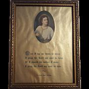 Vintage Religious Nighttime Prayer Circa 1920's