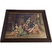 Patriotic Lithograph Betsy Ross Sewing Group by Jean Leon Gerome Ferris