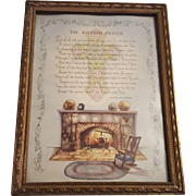 Vintage Print The Kitchen Prayer by Klara Munkres Circa 1920's