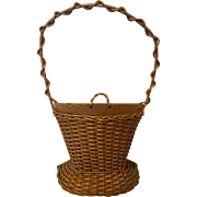 Vintage Wicker Basket Circa 1920's