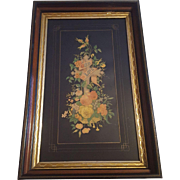 Antique Victorian Floral Religious Lithograph Titled God is Love  Circa 1890's