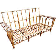 Vintage 1920's Natural Stick Wicker Sofa