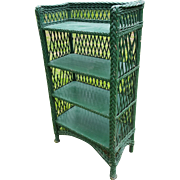 Vintage Bar Harbor Wicker Bookcase Circa 1920's
