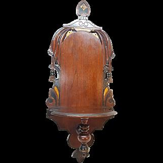 Antique Victorian Walnut Hanging Shelf Circa 1880's