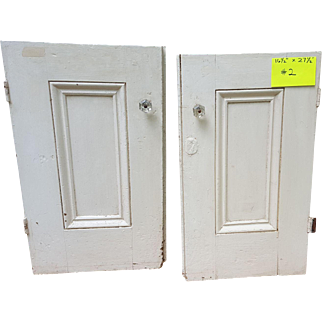 Pair of Antique Molded Panel Doors Circa Early 1800's