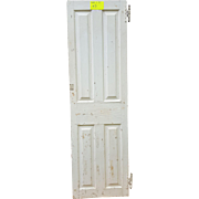 Antique Wooden Door with Raised Panels and Hand Forged Hardware