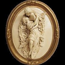 Romantic Ceramic Plaque Circa 1940's
