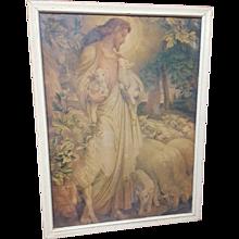 Vintage Print The Good Shepherd Circa 1920's