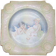 Vintage Plate with Angels Circa