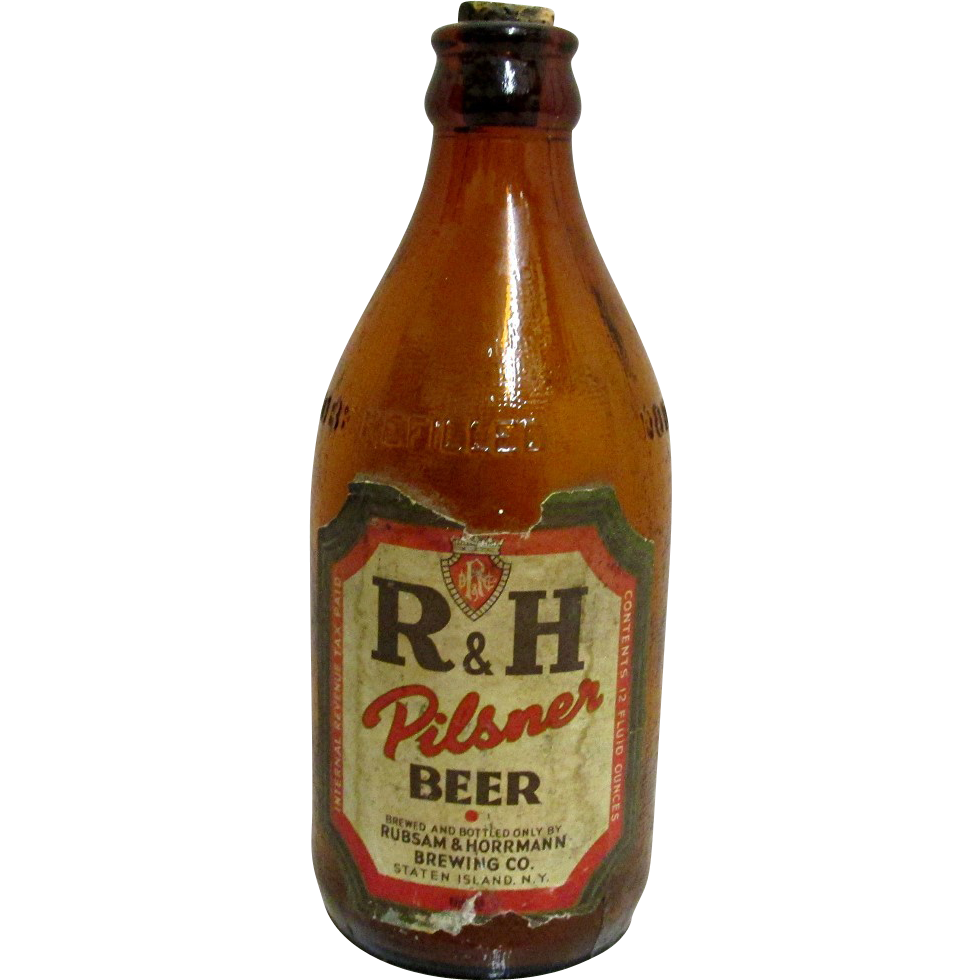 SOLD   See others for SALE   R & H Pilsner Beer Bottle Staten Island Brewery