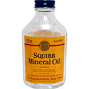 SQUIBB Travel Size 6 oz. Mineral Oil Bottle