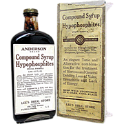 Andersons Syrup with Original Box from Old Drugstore or Pharmacy