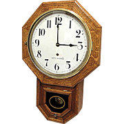 SOLD    See other clocks we have for sale   Seth Thomas Tiger Oak Wall Clock