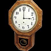 Seth Thomas Tiger Oak Wall Clock