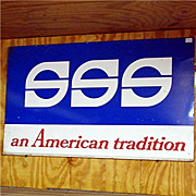 Triple's Blue Stamps Two Sided Advertising Sign for SSS an American Tradition