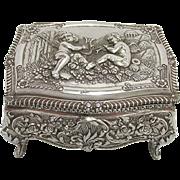 Silvered Repose Jewelry Box