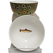 Brown Trout Serving Bowls