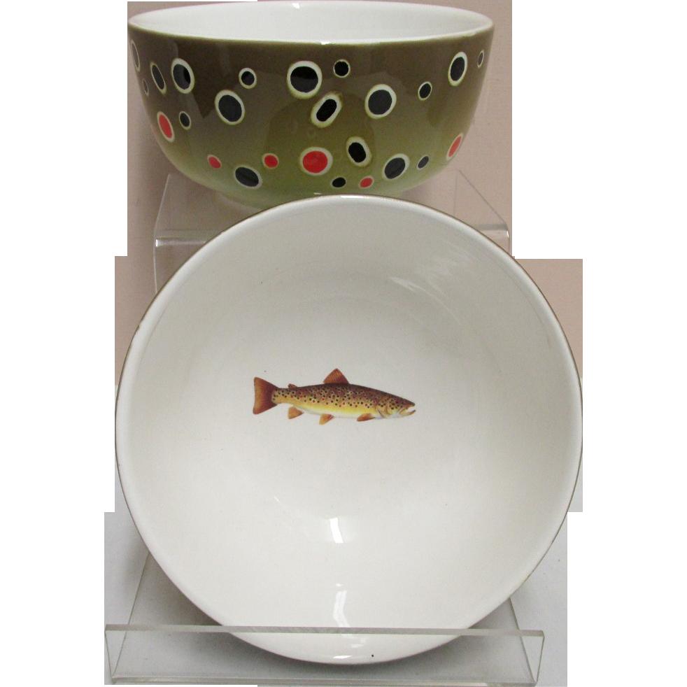 Brown Trout Serving Bowls