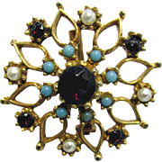 Pin or Brooch Stylized Floral