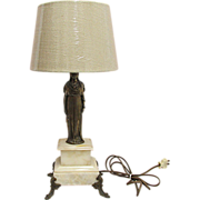 Table Lights pair of Antique French Statuary Table Lamps