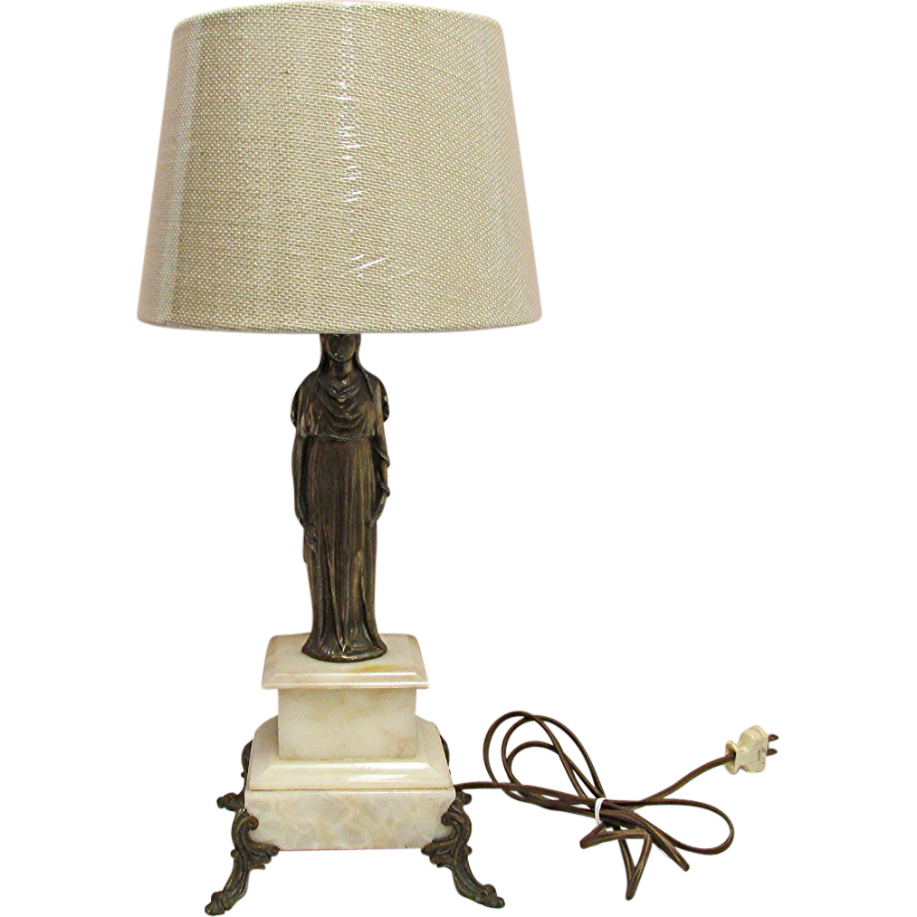 Table Lights pair of Antique French Statuary Table Lamps For $250 Sale Price