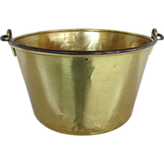Antique Brass Kettle Cooking Pot or Pail by Haydens