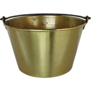 Brass Kettle, Pail, Bucket or Pot Ansonia Brass Co. 1866 Spun Brass