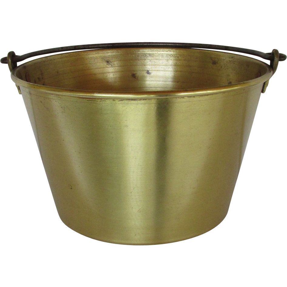 Ansonia Brass Co. 1866 Spun Brass Kettle, Pot, Bucket or Pail