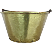 Brass Kettle or Pot Hand Hammered Circa 1870