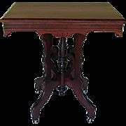 Victorian Eastlake Table Circa 1880 Mahogany