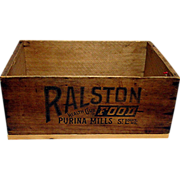 RALSTON Health Club Foods Wood Advertising Box