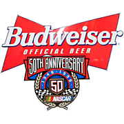 NASCAR 50th Anniversary Budweiser Beer Tin Advertising Sign