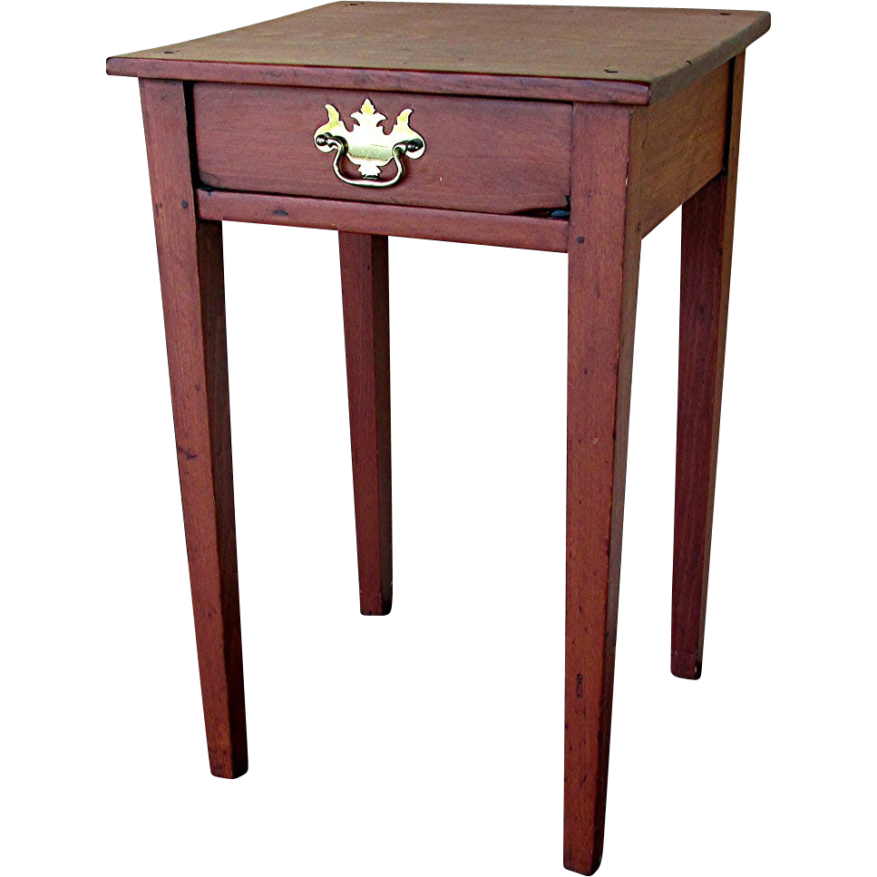 Single drawer tapered leg end table circa sold on