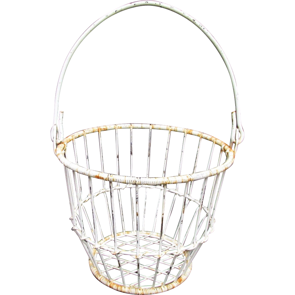 SOLD See three others for sale Antique Wire Basket from