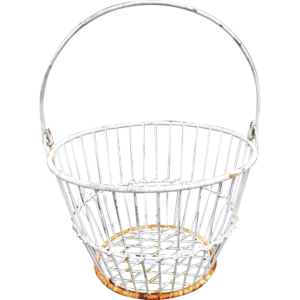 White Wire Antique Basket