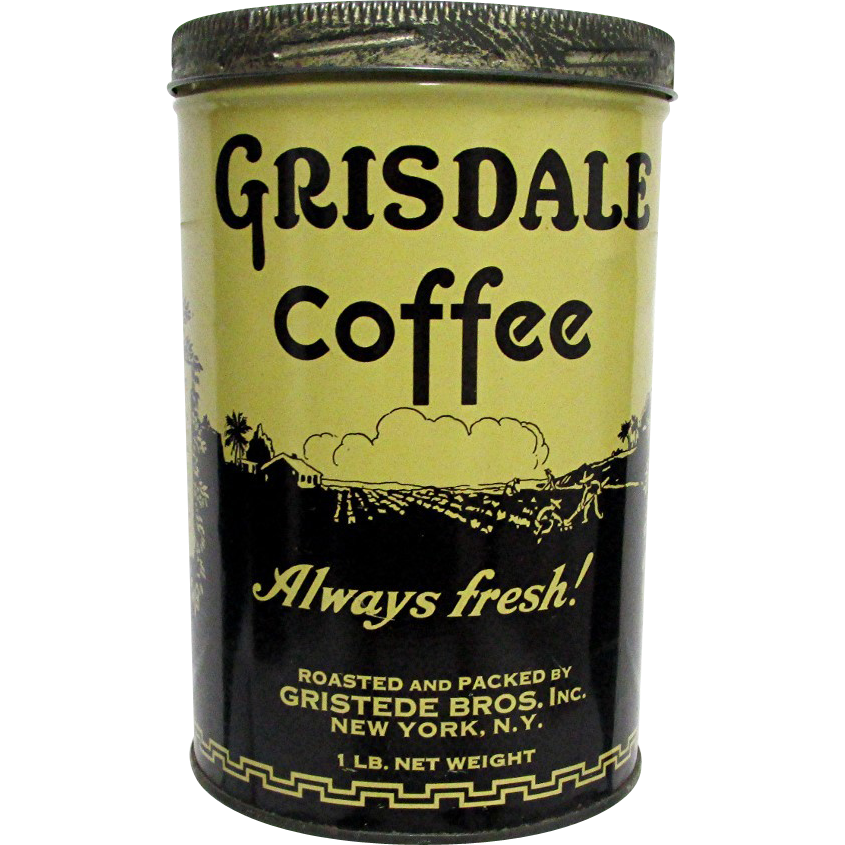 Gridsale Coffee Advertising Tin