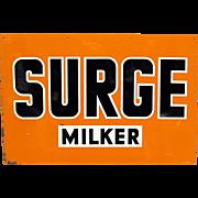Surge Milker Tin Advertising Sign
