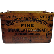 Revere Sugar Refinery Wood Advertising Box