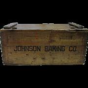 Johnson Baking Co. Wood Advertising Box