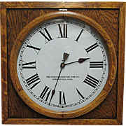 Standard Electric Slave Clock Solid Oak Case