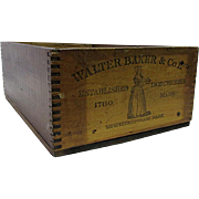 Walter Baker & Co. Ltd.  Vanilla Chocolate Wood Advertising Box