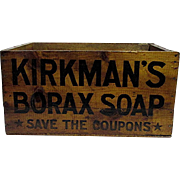 SOLD   Kirkman Borax Soap Advertising Box