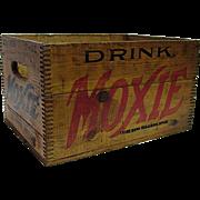 Moxie Beverage Wood Advertising Box