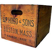 1949 H. P. Hood & Sons Wood Advertising Box  35+ Boxes To Choose From ALL ON SALE