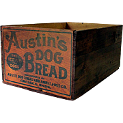 Austin Dog Bread Wood Advertising Box