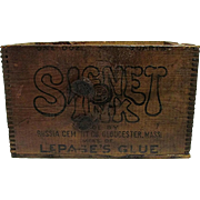 Signet Ink Wood Advertising Box