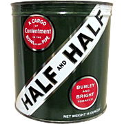 Half and Half Unopened Tobacco Advertising Tin