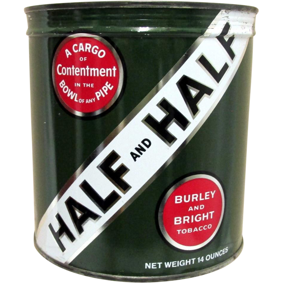 SOLD   Half and Half Unopened Tobacco Advertising Tin
